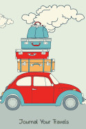 Journal Your Travels: Retro Car Loaded For A Road