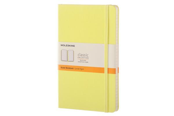 Moleskine Classic Notebook, Large, Ruled, Citron Yellow, Hard Cover (5 X 8.25)