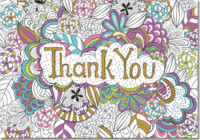 Color Me Thank You Notes (Stationery, Note Cards, Boxed Cards)