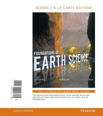 Foundations of Earth Science, Books a la Carte Edition