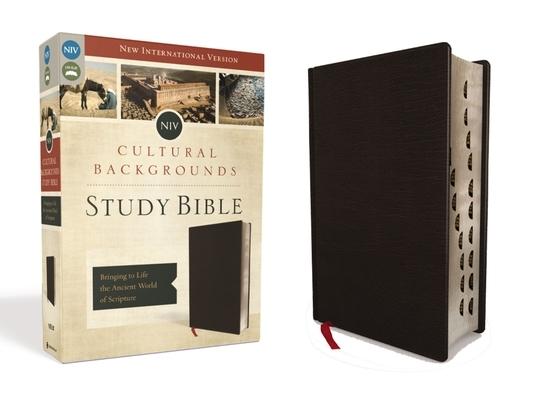 NIV, Cultural Backgrounds Study Bible, Indexed, Bonded Leather: Bringing to Life the Ancient World of Scripture