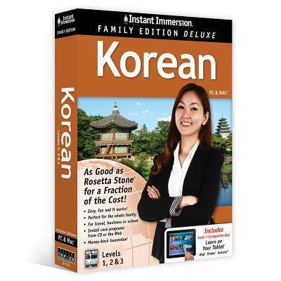 Instant Immersion Family Edition Deluxe Korean Levels 1,2 & 3