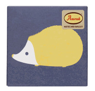 Anorak Kissing Hedgehogs Notecard Set