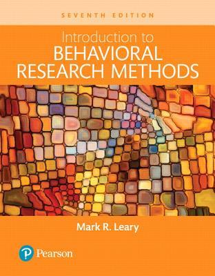 Introduction to Behavioral Research Methods, Books a la Carte