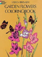 Garden Flowers Coloring Book