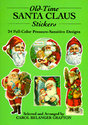 Old-Time Santa Claus Stickers: 24 Full-Color
