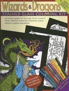 Wizards & Dragons Stained Glass Coloring