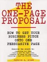 The One-Page Proposal: How to Get Your Business